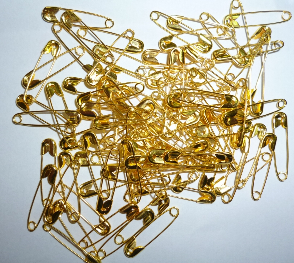 Biztosítótű arany színű 20 mm 815b28d6cc