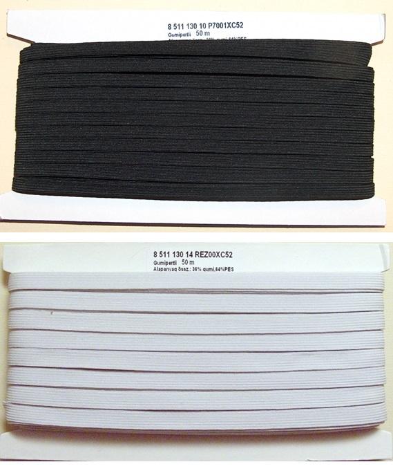 Gumipertli 8 mm fehér vagy fekete fc32d0df7b